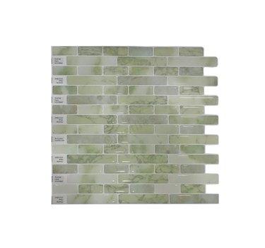 DIY Adhesive Tile Backsplash