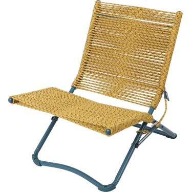 yellow rope chair