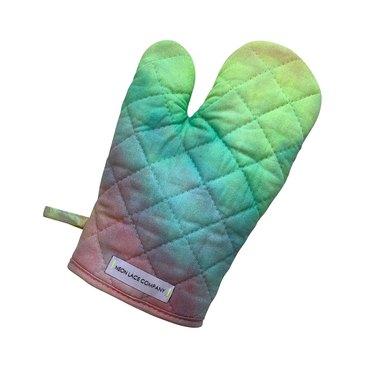 neon lace company pride tie dye oven mitt