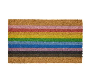 pottery barn Pride rainbow doormat