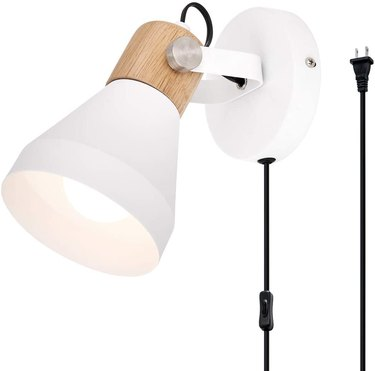 adjustable small bedroom task light sconce