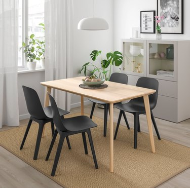 IKEA LISABO Table and ODGER Chairs