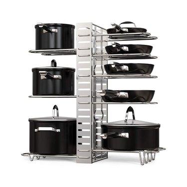 amazon prime day kitchen and pantry organizer deals pot rack organizer