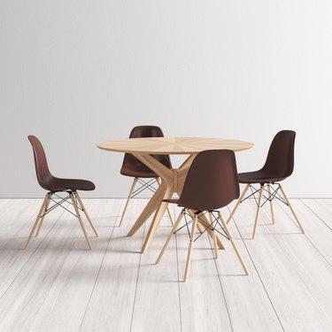 Efigencia Solid Wood 5-Piece Dining Set