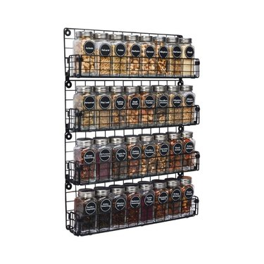 amazon prime day kitchen and pantry organizer deals wall mounted spice rack organizer