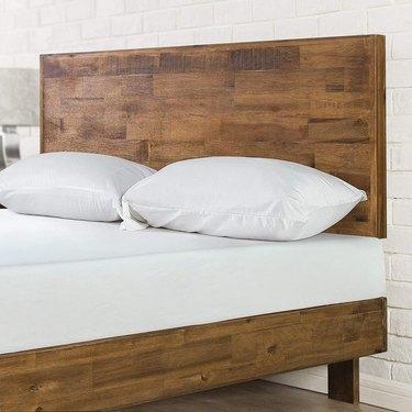 Platform wooden bed