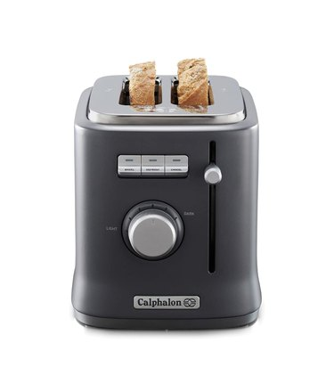 Toaster with 2 pieces of toast