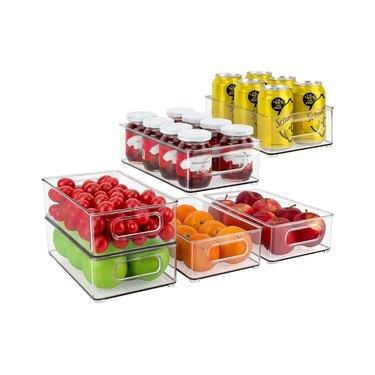 amazon prime day kitchen and pantry organizer deals refrigerator storage bins