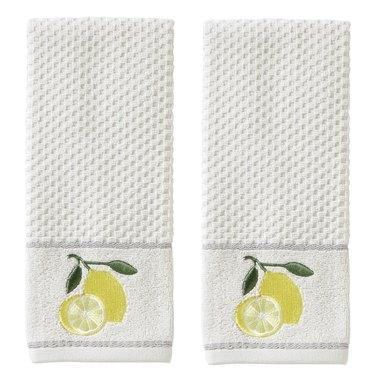 lemon hand towels