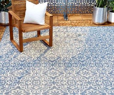 damask outdoor area rug