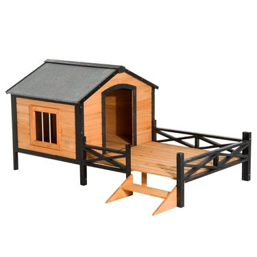 pawhut indoor outdoor dog houses