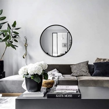 large round living room wall mirror