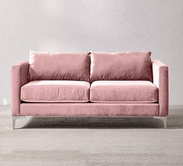 Pink retro sofa
