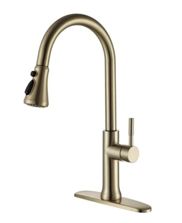 Sensitive Touch Pull-Down Sprayer Kitchen Faucet in Brushed Gold