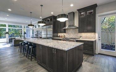 Fabu dark kitchen cabinets