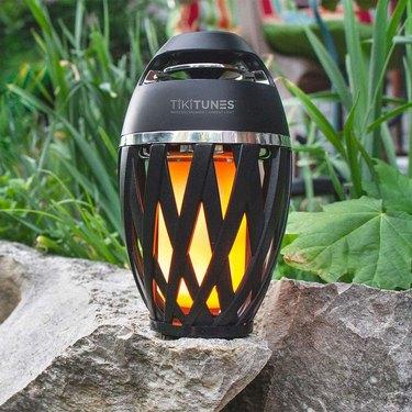 tiki light with wireless speaker