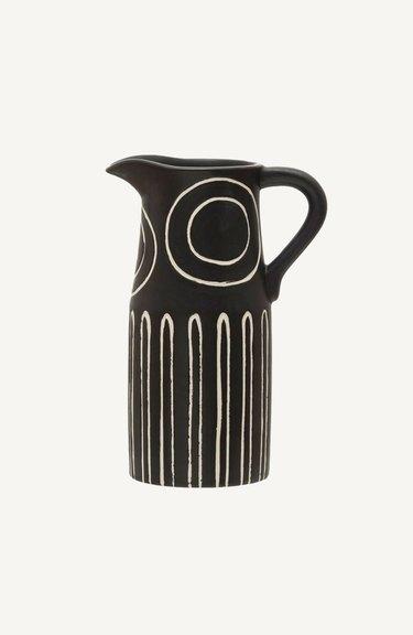 black and white mini pitcher
