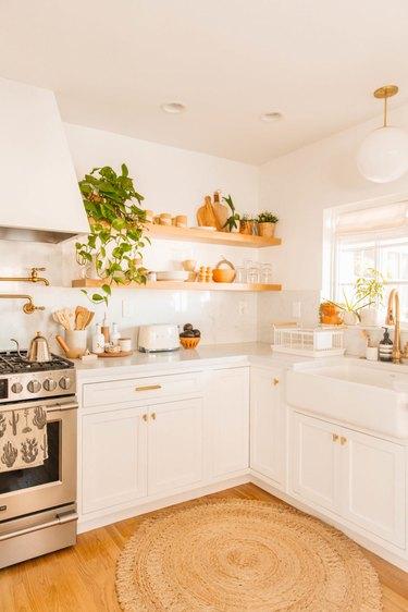 bohemian kitchen with vintage charm