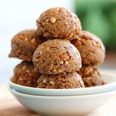 Vegan Richa Peanut Butter Balls With Rice Krispies Or Oats