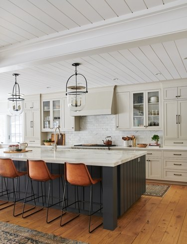 Kitchen shiplap island