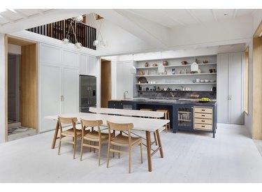 rustic kitchen wooden thresholds