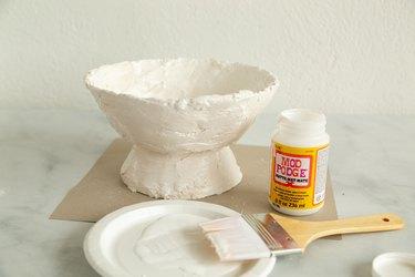 DIY plaster bowl