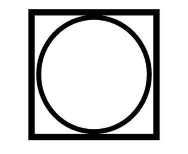 square with circle inside