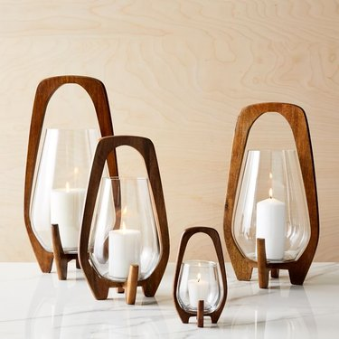west elm midcentury modern tabletop lantern