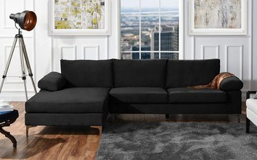 Black L-Shaped Sofa