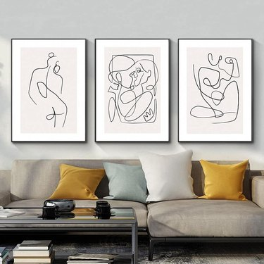 graphic living room wall art