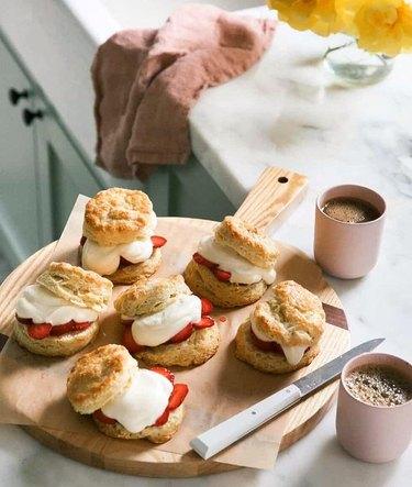 A Cozy Kitchen Strawberry Shortcake Biscuits
