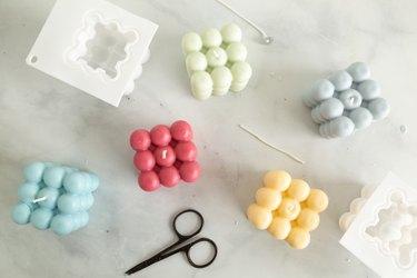 DIY bubble candles