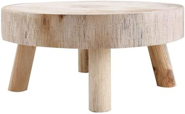 outdoor wood stool footrest side table