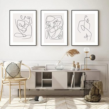 affordable graphic living room wall art