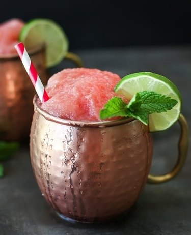 Simply Whisked Frozen Watermelon Moscow Mule