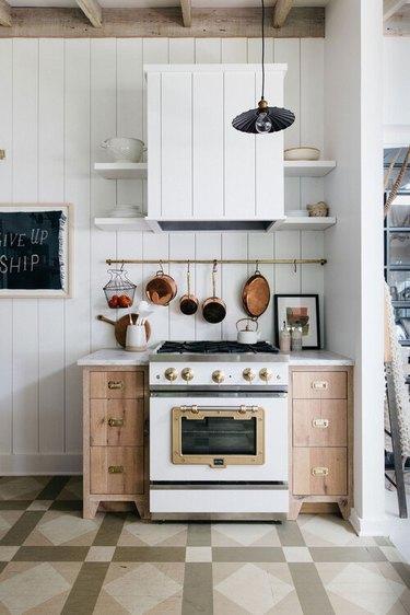 white shiplap kitchen idea