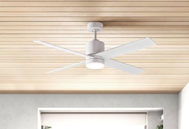 Blade LED Standard Ceiling Fan with Fan Control Parts and Light Kit