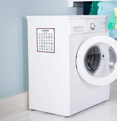 Jot & Mark Laundry Symbols Magnet Guide on laundry machine