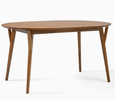 Mid Century Oval Expandable Dining Table
