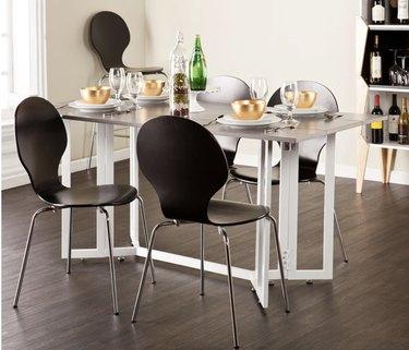 Grey drop leaf dining table