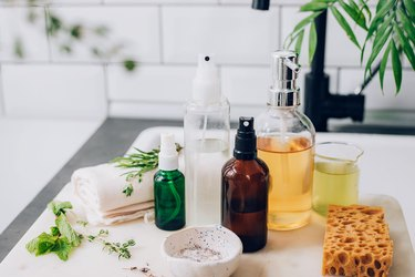 Plant-infused cleaning recipes