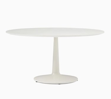 Round White Lacquer Table
