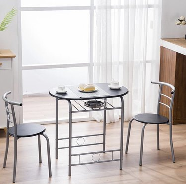 3-piece dining set with chairs and wine rack
