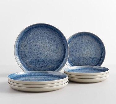 blue dinner plates