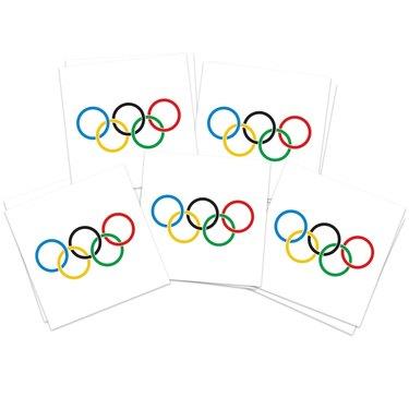 Olympics rings tattoos