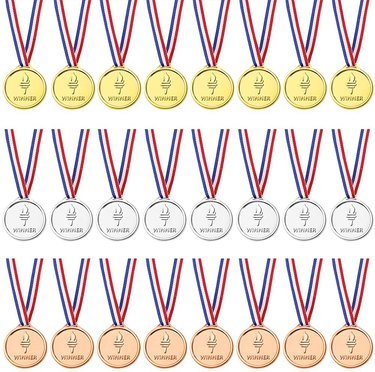 Gold, silver, and bronze olympic medals