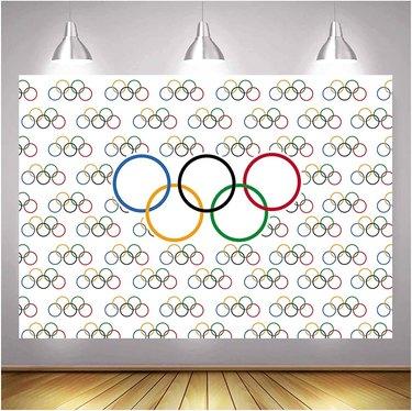 Olympics photo backdrop