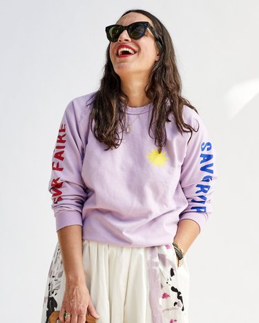 clare v heather taylor home Lavender Sweatshirt