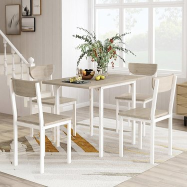 modern metal gray dining set