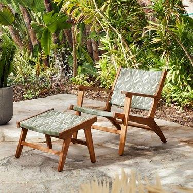 Bondi Outdoor Lounge Chair & Ottoman Set